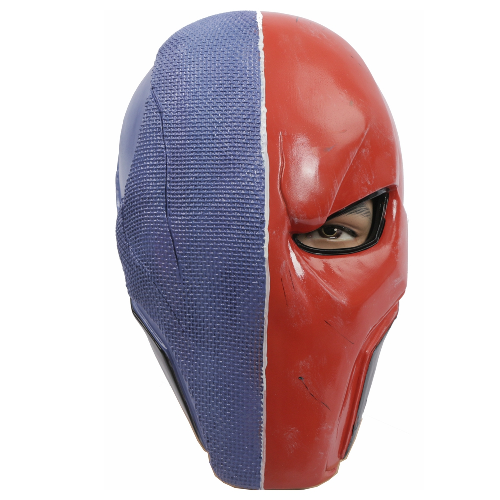 Coslive Batman Mask Deathstroke Cosplay Full Face PVC Halloween Mask Costume Accessories 1
