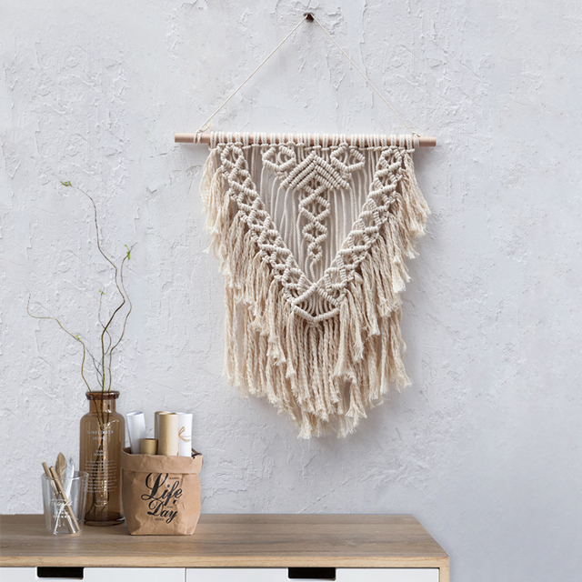 Boho Wall Hanging Macrame Bohemian Wall Decor Woven Tapestry Modern Macrame Wall  Art Living Room Decor