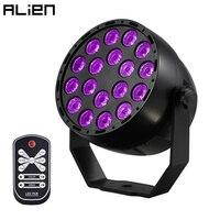 ALIEN 18 LEDs Ultraviolet UV LED Par DMX Stage Lighting Effect DJ Disco Party Holiday Bar Christmas Wedding Club Black Lights