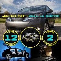 12X Car LED Nội Thất Trọn Gói Kit Bản Đồ Dome Bước Courtesy Thân Cây Màu Trắng hàng Xanh Red Light Fit cho Fit cho Sienna 2011 ~ 12 #03