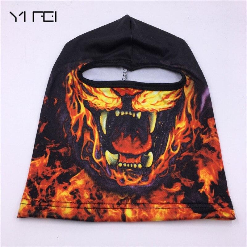 YIFEI 2017 3D Cap Animal Printed Party Bicycle Cycling Motorcycle Masks Ski Hood Hat Balaclava UV Full Face Mask outdoor