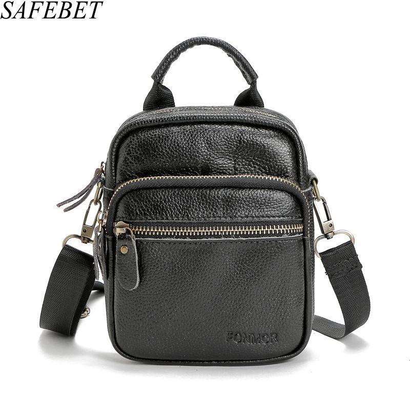 Hilfreich Safebet Marke Fashion Echtes Leder Männer Schulter Messenger Bag Herren Umhängetasche Hohe Qualität Mini Kleine Quadratische Tasche Home