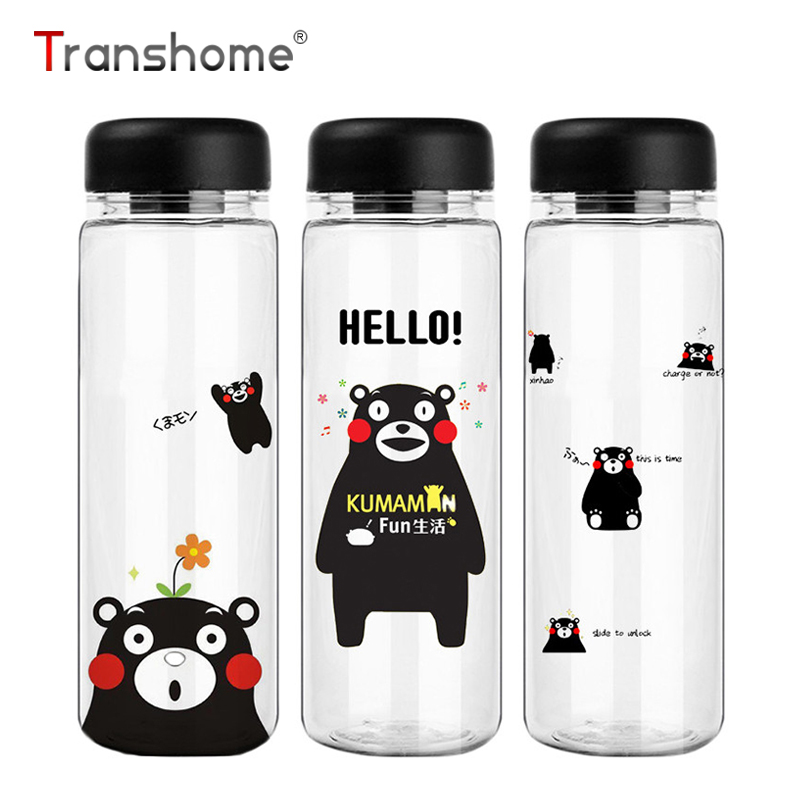 cute water bottles transhome water bottle 500ml kumamon 30574