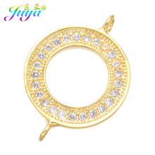 DIY Accessories Supplies For Jewelry Making Paved Zircon Circle Infinity Metal Connector Charms Bracelets Earrings Accessories