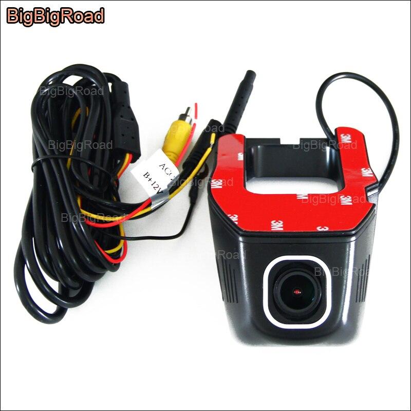 BigBigRoad Pour Nissan X-trail Voiture wifi DVR Conduite vidéo registrator installation Cachée FHD 1080 p Novatek 96655