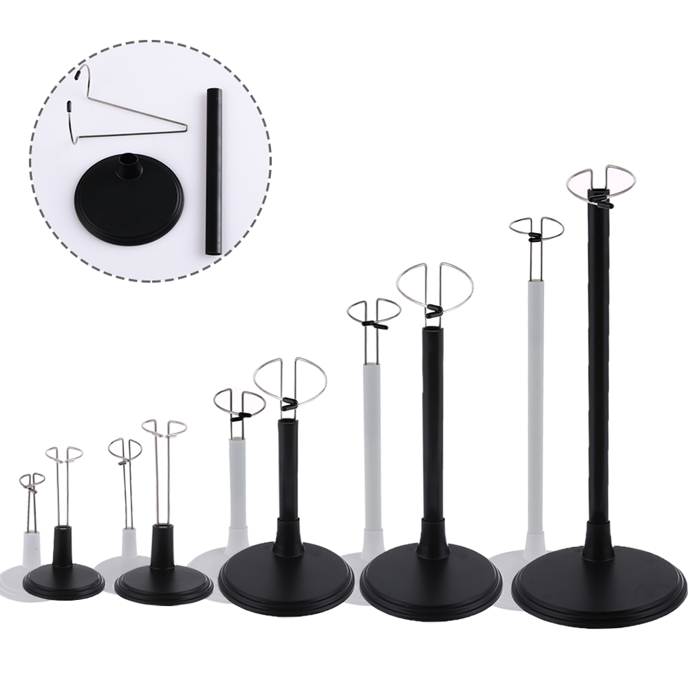 Cute Adjustable Metal White Black Doll Dummy Puppet Wrist Stand Holder Bracket Support Dollhouse Accessories Kids Girls Toy Gift(China)