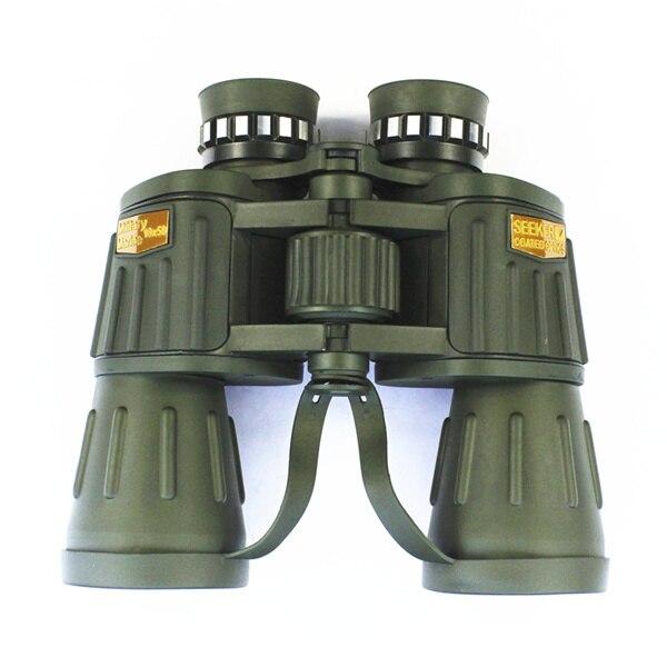 ФОТО Free Shipping 2015 new 10x50 outdoor military binocular Army Green marine prismatic binoculars hot sale