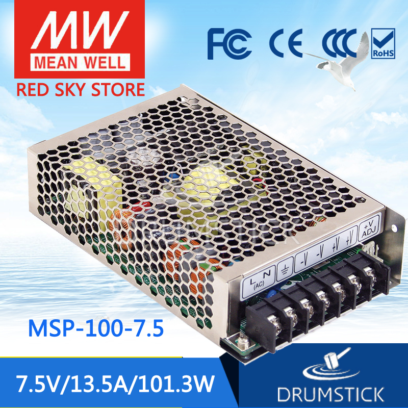 Advantages MEAN WELL MSP-100-7.5 7.5V 13.5A meanwell MSP-100 7.5V 101.3W Single Output Medical Type Power Supply