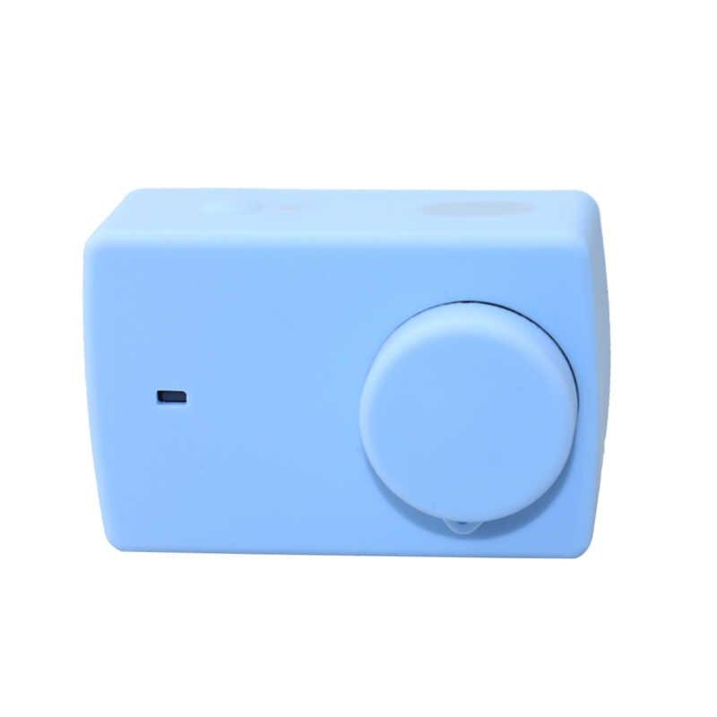 Резиновый чехол силиконовый корпус камеры с крышкой защиты объектива для Yi Xiaomi Second 4 K 4 K + Lite аксессуары для спортивной экшн-камеры