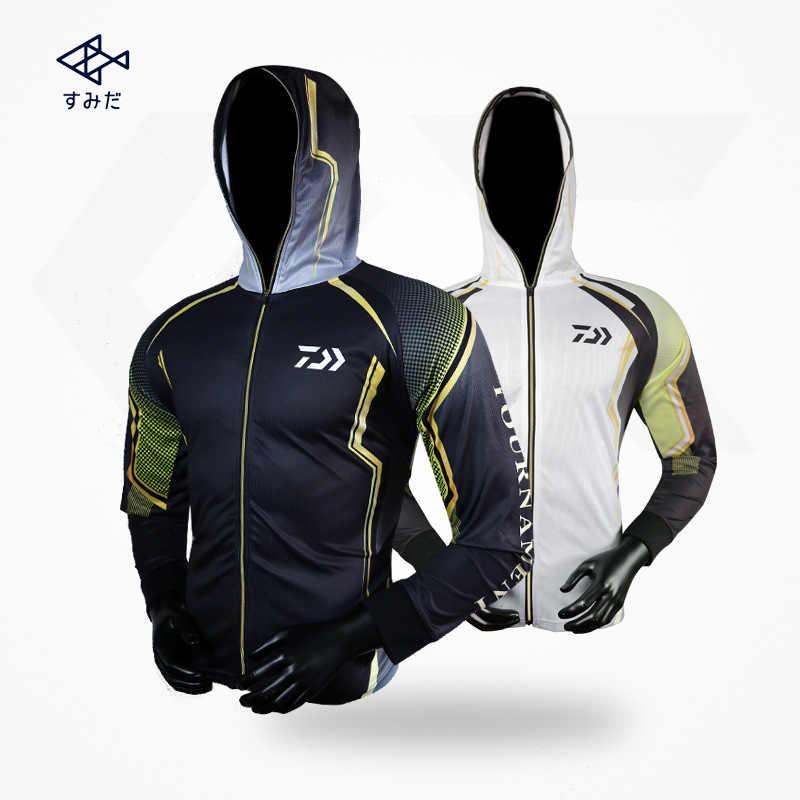 Daiwa Manica Lunga Abbigliamento Pesca Pesca Professionale Ad Asciugatura Rapida Camicia di Protezione Del Sole Dei Vestiti di Sport S-4XL