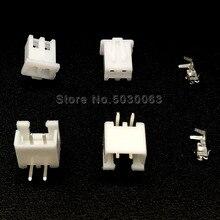 50 комплектов XH2.54 XH-2AW 2Pin 2p проводной разъем 2,54 мм 90 градусов изогнутый изгиб иглы Набор клемм/корпус/контактный разъем JST TJC