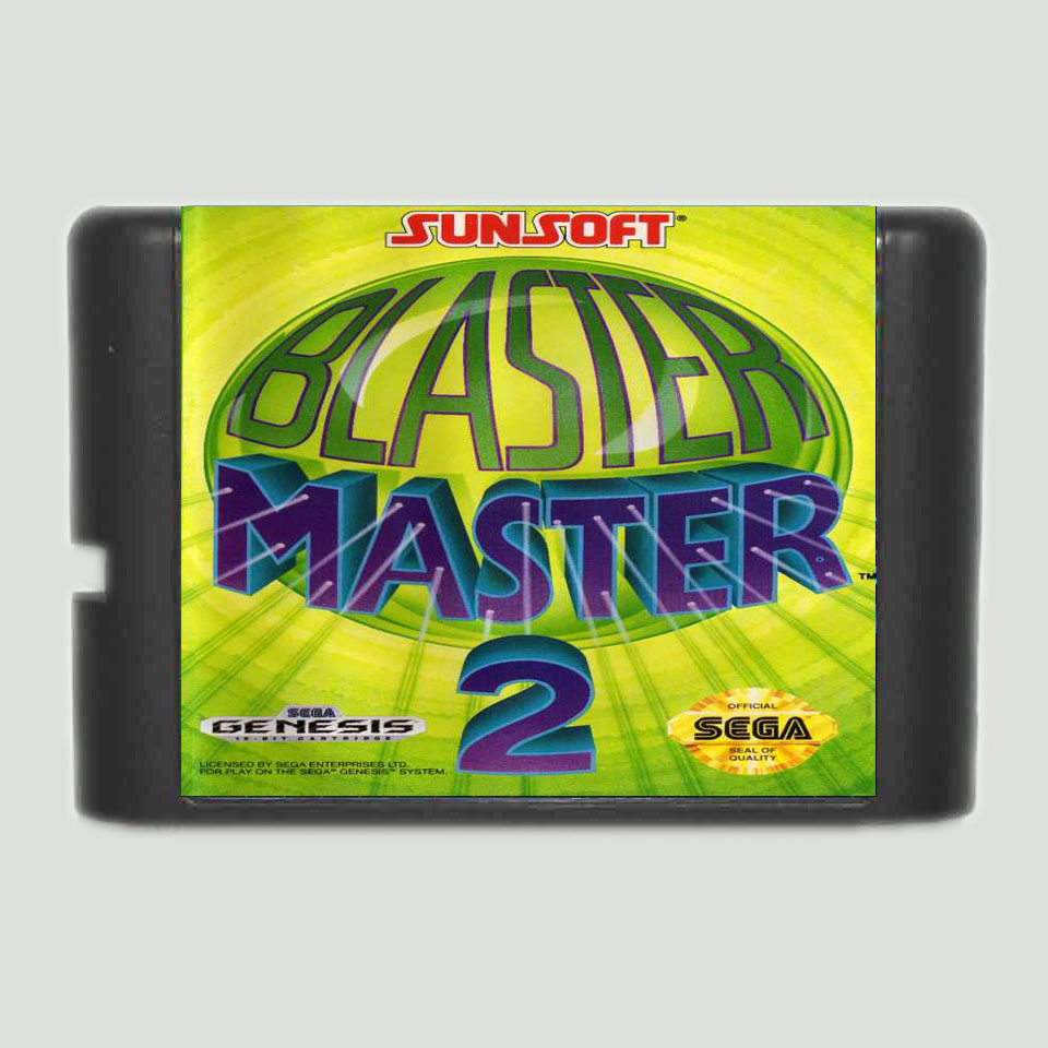Blaster Master 2 Game Cartridge Newest 16 bit Game Card For Sega Mega Drive / Genesis System image