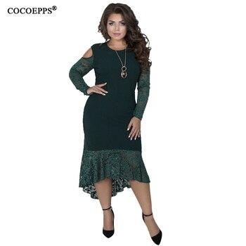 COCOEPPS Plus Sizes Autumn Women Dresses 2019 Winter Large Size Loose Dress Female Long Big Size Dress Women Clothings 5XL 6XL 5