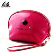 KAKINSU Pu Leather Women Cosmetic Bag Waterproof Small Travel Porable Makeup Handbag Make Up Case Pouch Wash Organizer Neceser