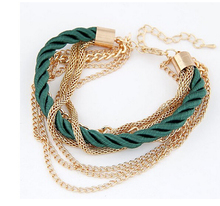 Luxury Braided Multilayer Bracelet Alloy Bangle