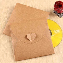 10pcs/lot Discs CD Bag Wedding Creative Kraft Paper CD Packaging Paper Bag Photographic Cover DVD Bag цена