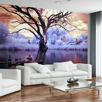 Beibehang מודרני מינימליסטי נורדי פנטזיה אגם עץ מותאם אישית קיר רקע טלוויזיה קיר ציור קיר גדול טפט הסביבה