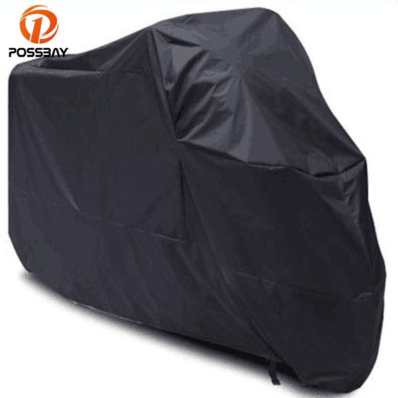 POSSBAY Motorcycle Protector Case Cover Dustproof Waterproof Outdoor UV Rain Prevention For Honda Suzuki Harley ironwalls xxxl atv waterproof cover outdoor protector camo black silver for honda banshee suzuki yamaha raptor quads polaris 3xl