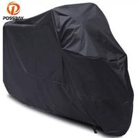 POSSBAY Motorcycle Protector Case Cover Dustproof Waterproof Outdoor UV Rain Prevention For Honda Suzuki Harley