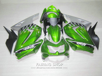 Injection molding fairings For Kawasaki ninja 250r 08 09 10 14 2008 2014 green silver black EX250 fairing kit PO18