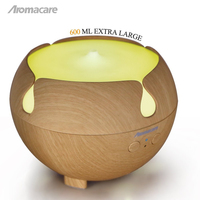 Aromacare 600ml Humidifiers Fragrance Essential Oil Diffuser UFO Vaporizer Evaporator Steam Purifier Auto Off When Waterless