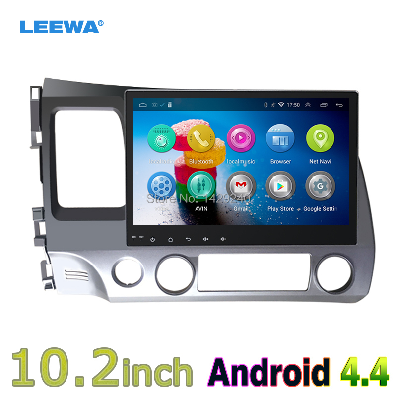 10.2 Quad core Android 4.4 Car GPS navi for Honda civic 2006-2011 with Capacitive screen 1G RAM Mirror Link Wifi #CA4761 android 5 1 car radio double din stereo quad core gps navi wifi bluetooth rds sd usb subwoofer obd2 3g 4g apple play mirror link