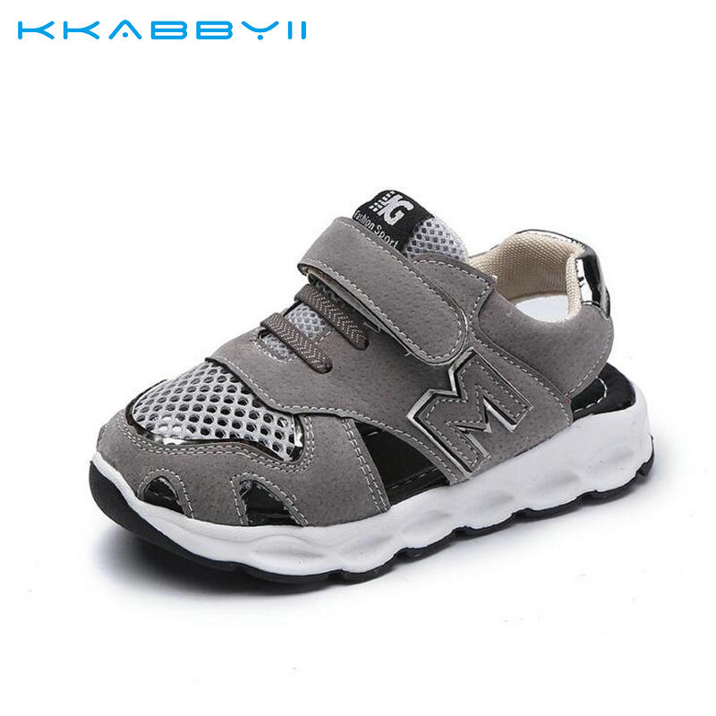 KKABBYII Fashion Summer Childrens Sandals For Boys Girls Sports Shoes Mesh Sandal Kids Cut-outs Casual Shoes Size 21-30