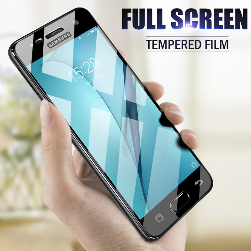 H&A Full Cover Screen Protector Glass For Samsung Galaxy A7 A5 A3 2016 2017 Tempered Glass For Samsung S7 S6 Protective Film ...
