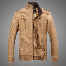 New 2016 Winter Men's Leather Velvet Jacket Collar Fashion Casual Jaquetas de Couro Warm PU Leather Jacket Chaquetas Hombre XXXL
