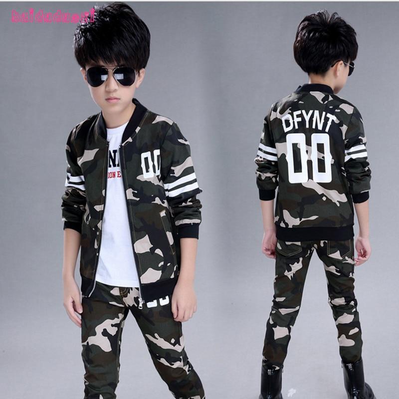 Kids Clothes Boy's Fashion Sports Set Kid's Clothing Sets Teenagers Sport Suit School Kids Suit Sets Boys Jackets & Pants