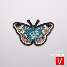 embroidery butterfly patches for jackets,butterfly badges jeans,appliques clothing A566