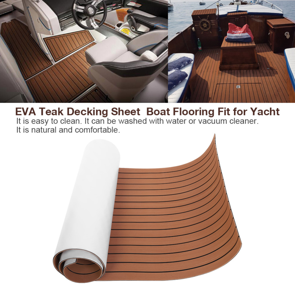 Decking-Sheet Boat Flooring Yacht Eva Teak Faux-Boat Brown Self-Adhesive-Foam Dark Fit-For