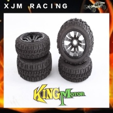 1/5 Rc Car Front&rear Pioneer tire x 4pcs/set with carbon Poison rim black deadlock for baja 5T T1000 5SC
