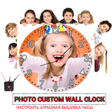Photo Custom Make Your Own Clock Diamond Painting Cross Stitch Customized Wall  Embroidery Full Square/Round