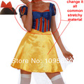 Free Shipping clearance  Sexy Deluxe Snow White Halloween Party Fancy Dress Student COSTUME christmas