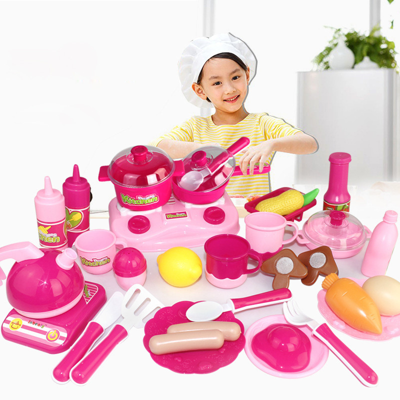 30pcs Set Classic Cooking Toys For Children Pretend Play