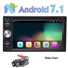 """6.2"""" Android Car DVD Player Octa Core 7.1 Stereo in Dash GPS Navigation Bluetooth FM AM RDS Auto Radio Headunit Wifi USB+Camera"""