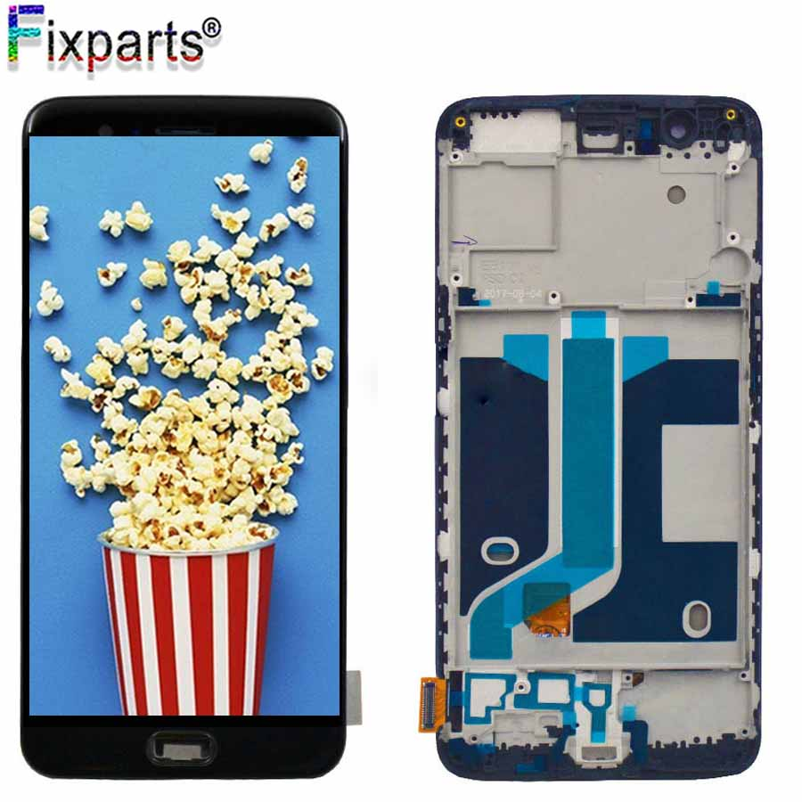 Original Change Glass Tested Oneplus 5 LCD Display Screen Touch Panel Complete Assembly Oneplus 5 A5000 LCD Digitizer Display