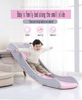 Children's indoor slide, children's amusement slide folding slide Children's beds along small slides
