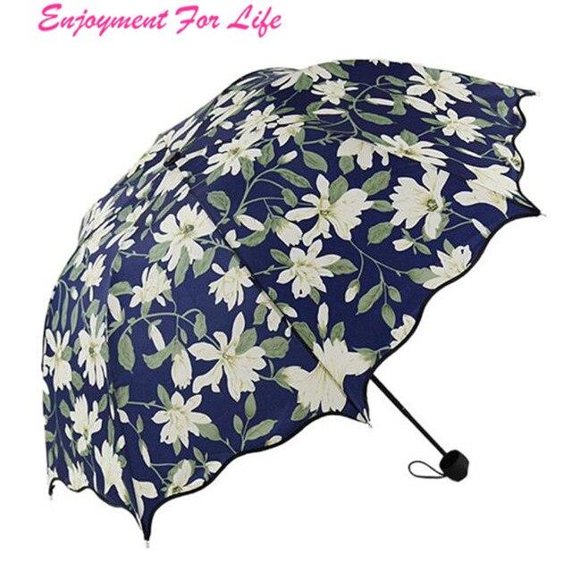 Flouncing Folding Lotus   Wholesale High Quality Hot SaleLeaves Princess Dome Parasol Sun/Rain Umbrella Free Shipping Dec 22