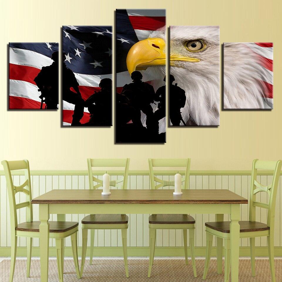 Canvas Wall Art Picture Frame Kitchen Restaurant Decor 5 Pieces ...