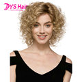 Short Cheap Blonde Wigs Kinky Curly Synthetic Wig Cosplay Perruque Heat Resistant Synthetic HairTurquoise Wigs Pelucas Natural