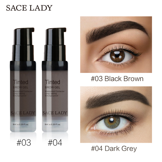 SACE LADY Henna Eyebrow Dye Gel Waterproof Makeup Shadow For Eye Brow Wax Long Lasting Tint Shade Make Up Paint Pomade Cosmetic 4