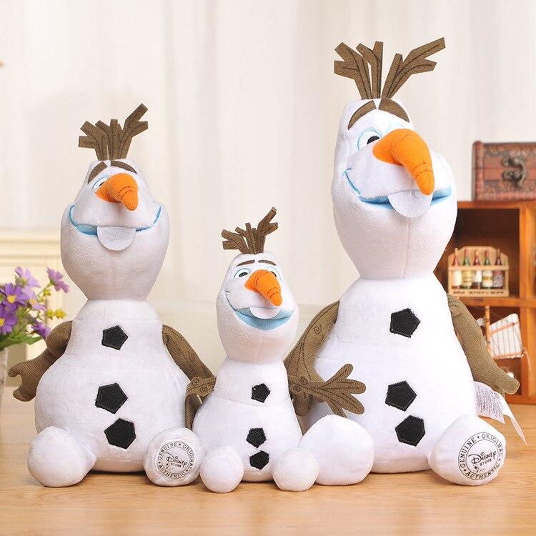 Disney Plush Toys 30cm/50cm Frozen Snowman Cartoon Olaf Soft Plush Toy Doll Stuffed Toys Brinquedos Gift For Kids Baby Girls