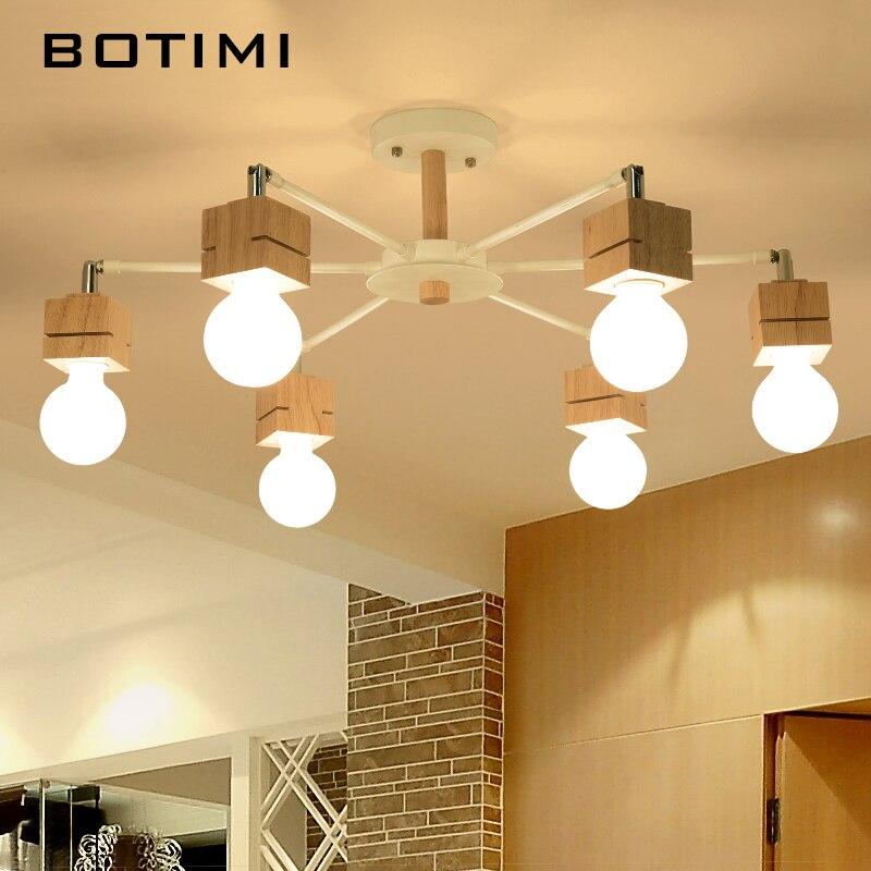 BOTIMI Neue E27 Deckenleuchten Holz Lampen Lamparas De Techo Oberflche Innen Lampe Fr Schlafzimmer Wohnzimmer Kche