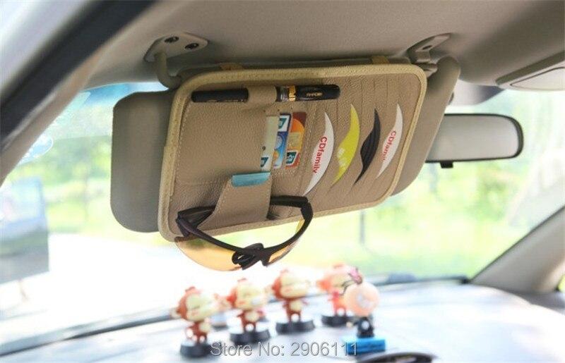 Disc Storage CD DVD eneral Car Sun Visor/card holder for Porsche cayenne macan 911 panamera 997 996 918 955 Car styling