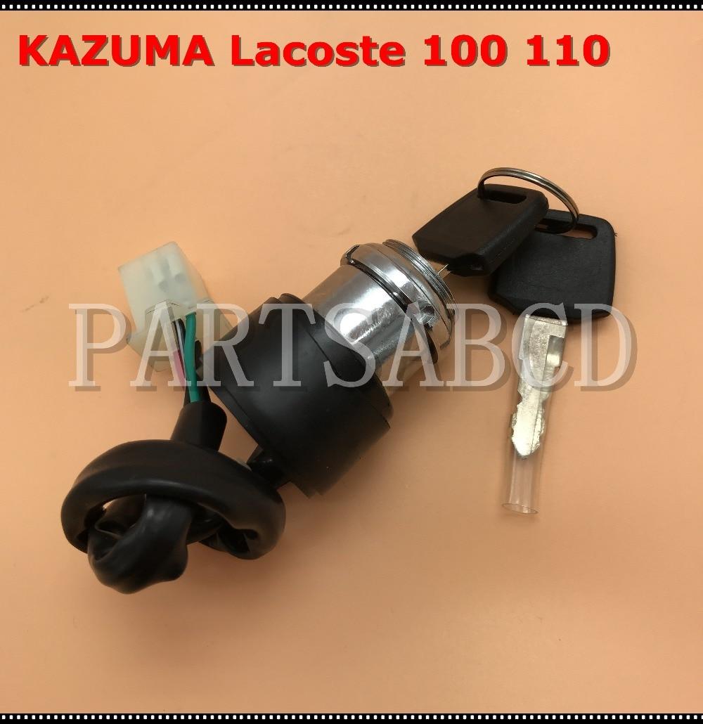 Atv,rv,boat & Other Vehicle Frank 4 Wires Ignition Key Switch Assy For Kazuma Lacoste 100cc 110cc Atv C100b-8301110 Fine Workmanship