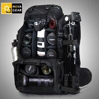NOVAGEAR 80302 çift omuz kamera çantası darbeye dayanıklı su geçirmez açık büyük kapasiteli slr kamera çantası