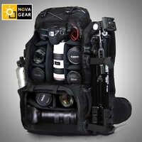 NOVAGEAR 80302 ダブルショルダーカメラバッグ耐震性の防水屋外大容量一眼レフカメラバッグ
