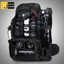 Novagear 80302 saco da câmera do dobro ombro à prova de choque impermeável ao ar livre grande capacidade slr saco da câmera